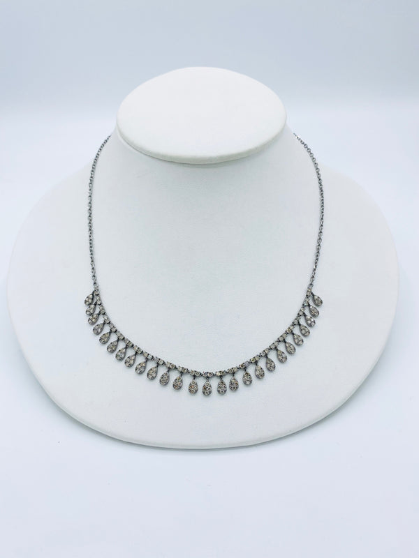 Pear Diamond Shaker Necklace