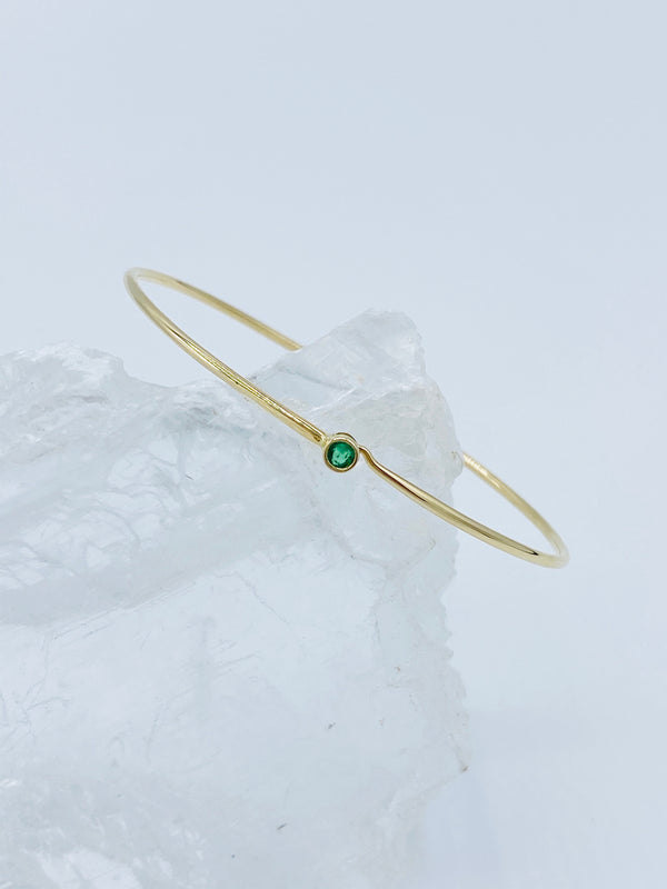 14k Gold Wire with Emerald