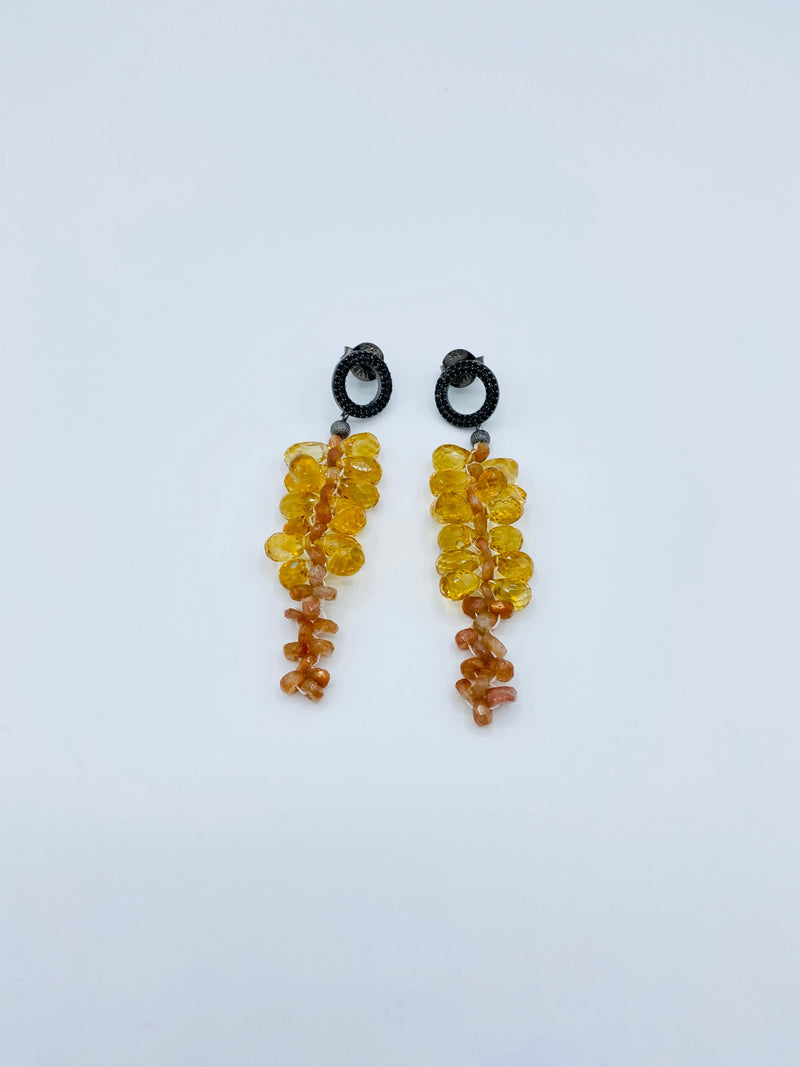 Citrine and Sandstone Earrings