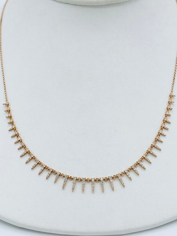Rose Gold 14k Mini Spike Necklace