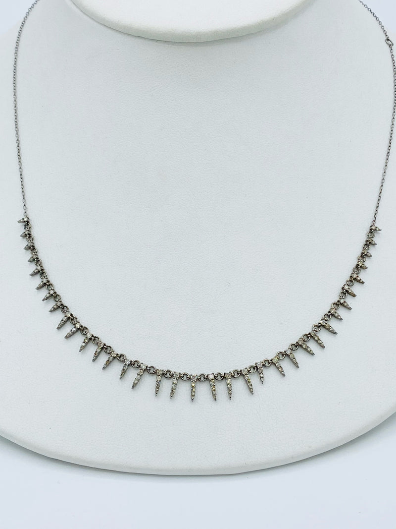 Sterling Silver Mini Spike Necklace