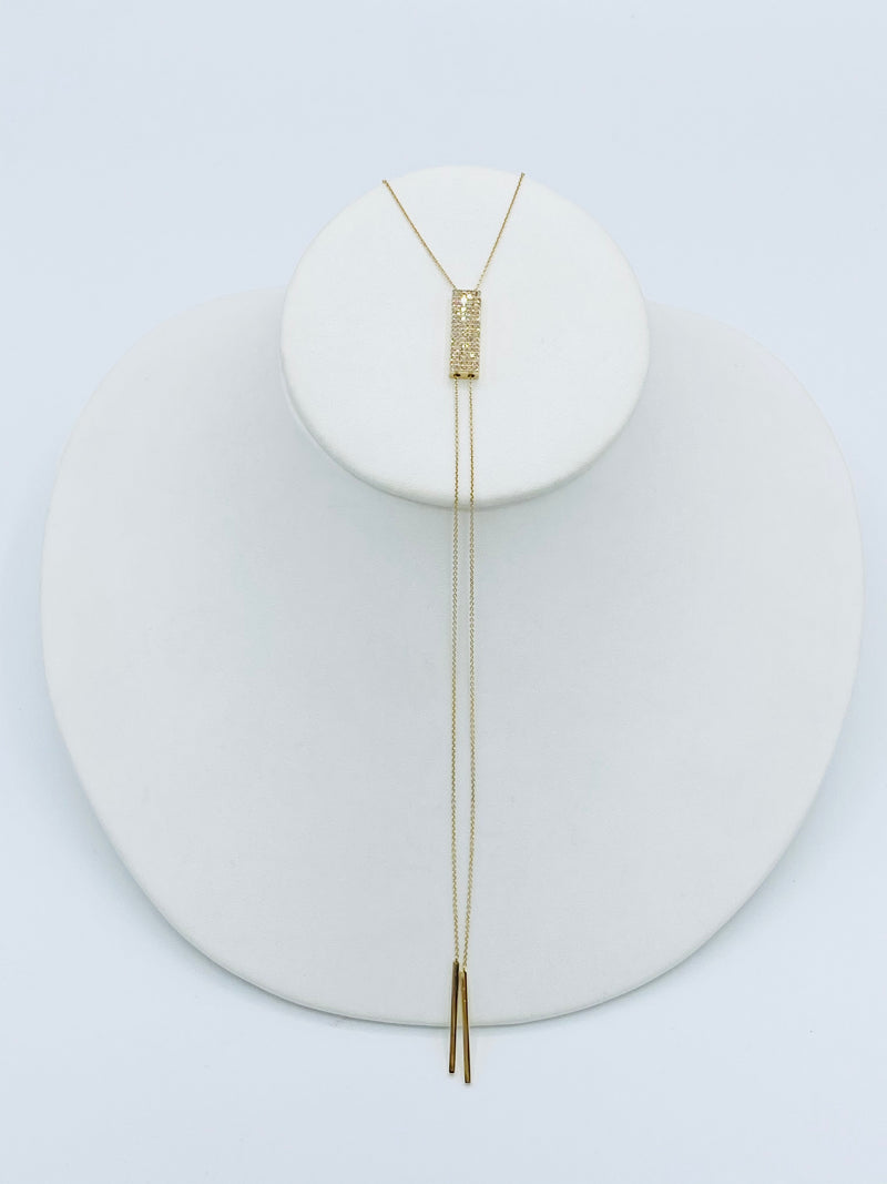14k Gold Bolo Necklace