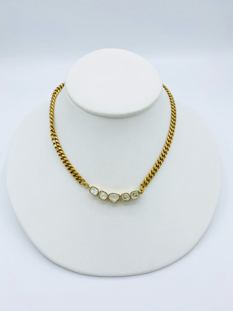 Gold Polki Diamond Necklace