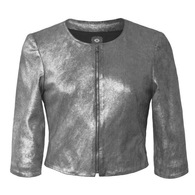 Stretch Leather Cardigan