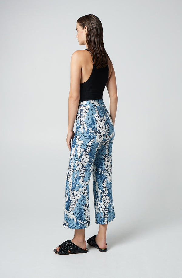 Cropped Patch Pocket Pant
