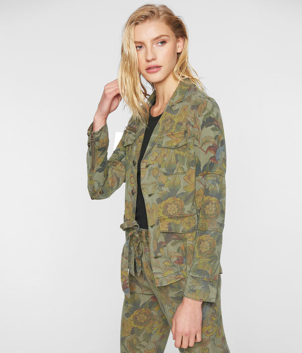 FLORAL ARMY JACKET