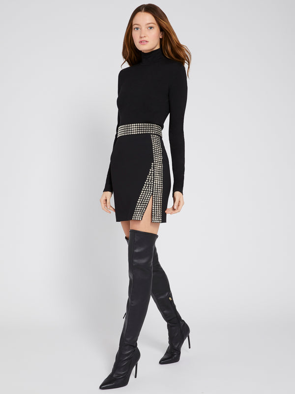Christi Studded Mini Skirt