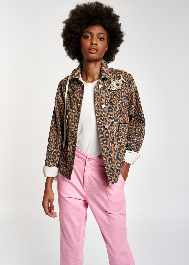 Zeagle Print Denim Jacket