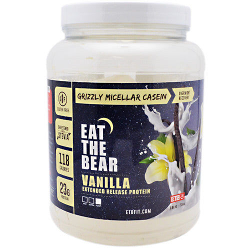 Eat The Bear Grizzly Micellar Casein - Vanilla - 1.6 lb - 637262797111