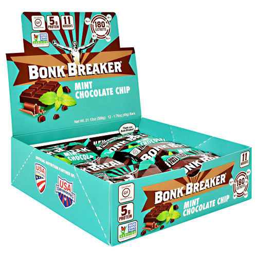 Bonk Breaker Energy Bar - Mint Chocolate Chip - 12 Bars - 040232220371