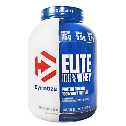 Dymatize Elite 100% Whey - Chocolate Cake Batter - 5 lb - 705016560134