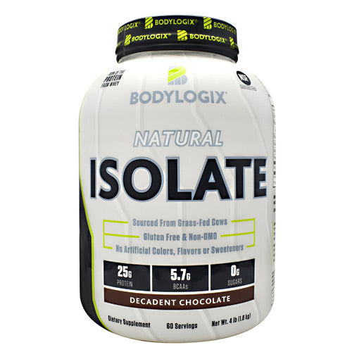 BodyLogix Natural Isolate Protein - Decadent Chocolate - 4 lbs - 694422031447
