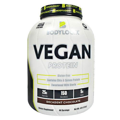 BodyLogix Vegan Protein - Decadent Chocolate - 4 lb - 694422032437