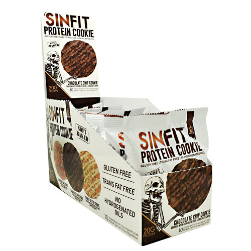 Sinister Labs Sinfit Cookie - Chocolate Chip Cookie - 10 ea - 853698007406