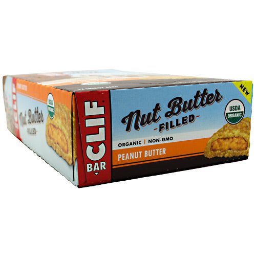 Clif Bar Nut Butter Filled Energy Bar - Peanut Butter - 12 Bars - 722252368034
