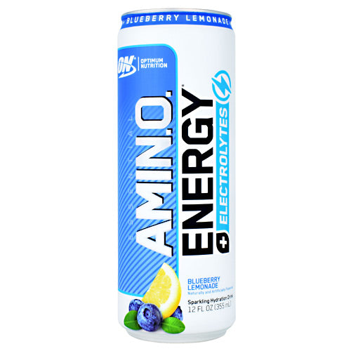 Optimum Nutrition Essential Amino Energy + Electrolytes RTD - Blueberry Lemonade - 12 Cans - 60748927060630