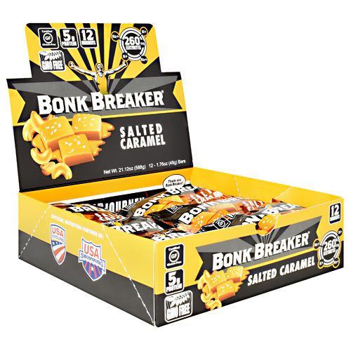Bonk Breaker Energy Bar - Salted Caramel - 12 Bars - 040232220296