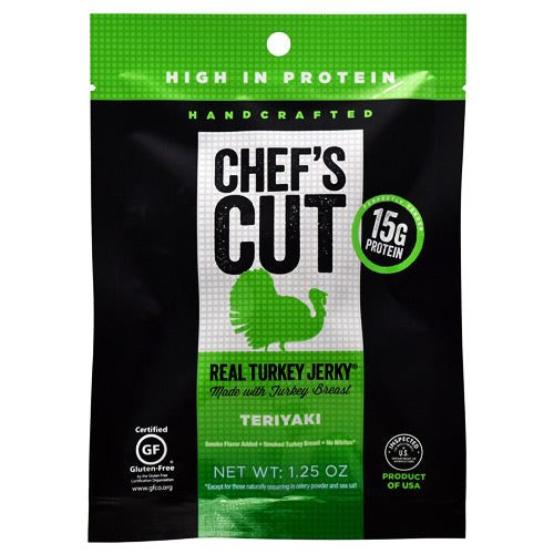 Chefs Cut Real Jerky Real Turkey Jerky - Teriyaki - 1.25 oz - 858959005160