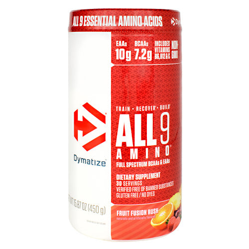 Dymatize All 9 Amino - Fruit Fusion Rush - 30 Servings - 705016181001