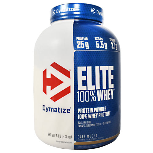 Dymatize Elite 100% Whey - Cafe Mocha - 5 lb - 705016560035