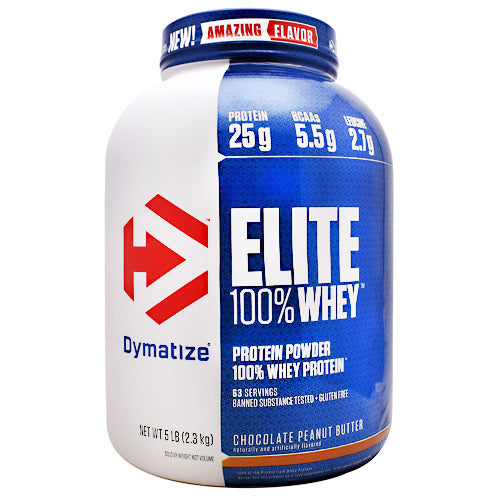 Dymatize Elite 100% Whey - Chocolate Peanut Butter - 5 lb - 705016560226