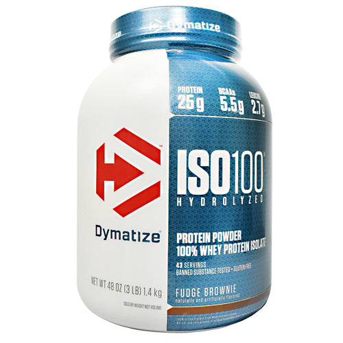 Dymatize ISO100 - Fudge Brownie - 3 lb - 705016353231
