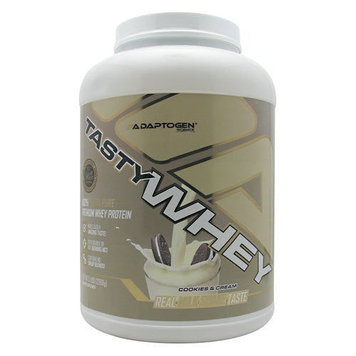 Adaptogen Science Tasty Whey - Cookies & Cream - 5 lb - 612524152204