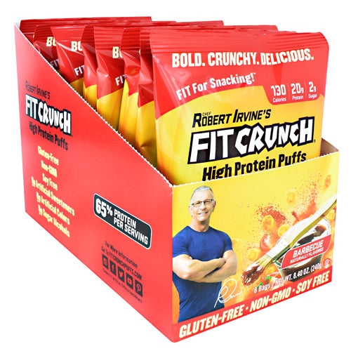 Fit Crunch Bars High Protein Puffs - Barbecue - 8 ea - 817719020874