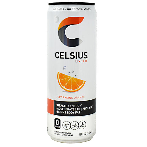Celsius Celsius - Sparkling Orange - 12 Cans - 889392000559