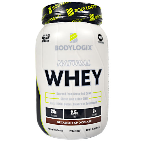 BodyLogix Natural Whey - Decadent Chocolate - 2 lb - 694422031140