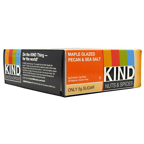 Kind Snacks Kind Nuts & Spices - Maple Glazed Pecan & Sea Salt - 12 Bars - 602652171901