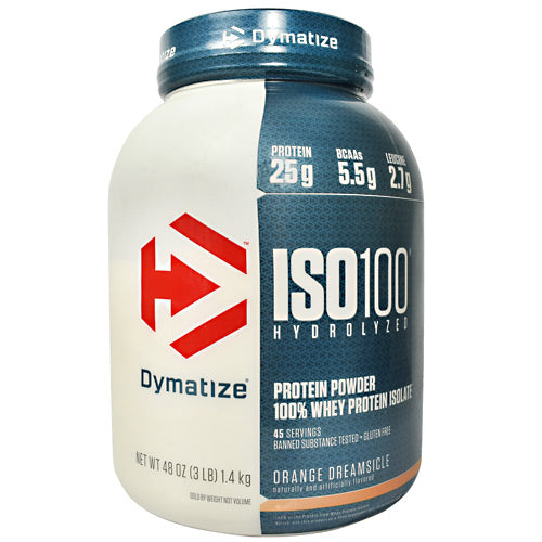 Dymatize ISO100 - Orange Dreamsicle - 3 lb - 705016353248
