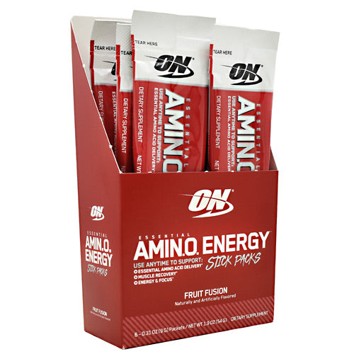 Optimum Nutrition Essential Amino Energy - Fruit Fusion - 6 Packets - 748927958829