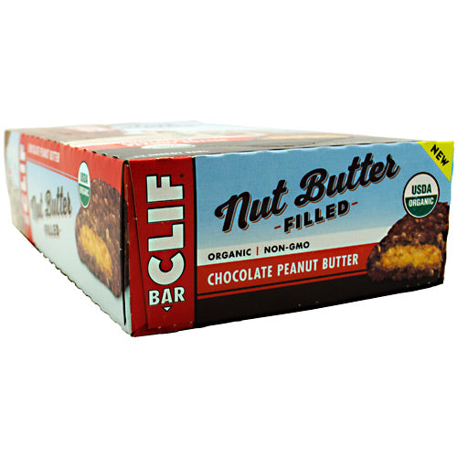 Clif Bar Nut Butter Filled Energy Bar - Chocolate Peanut Butter - 12 Bars - 722252368010