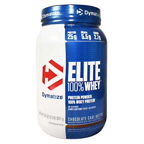 Dymatize Elite 100% Whey - Chocolate Cake Batter - 2 lb - 705016599233