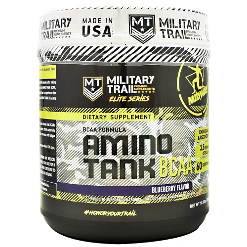 Midway Labs Elite Series Amino Tank BCAA - Blueberry - 60 Servings - 813236024739
