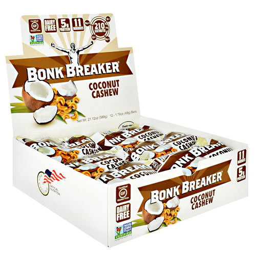 Bonk Breaker Energy Bar - Coconut Cashew - 12 Bars - 793573158666