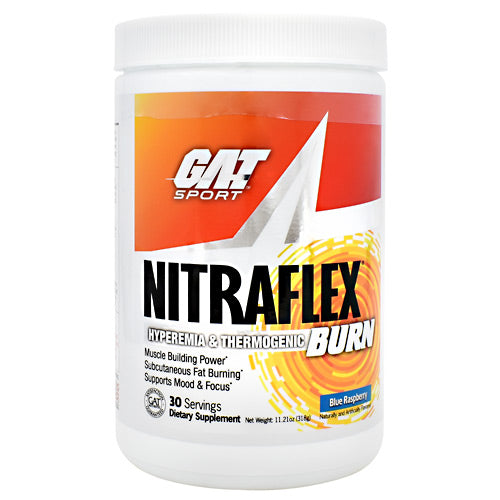 GAT Nitraflex Burn - Blue Raspberry - 30 Servings - 816170022281