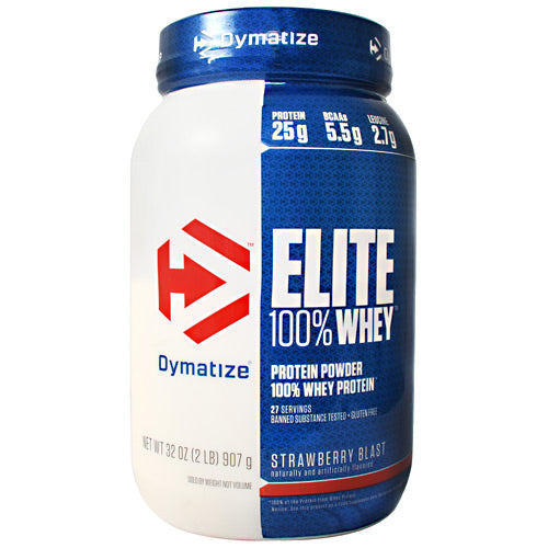 Dymatize Elite 100% Whey - Strawberry Blast - 2 lb - 705016599028