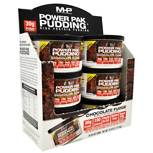 MHP Power Pak Pudding - Chocolate Fudge - 6 Cans - 666222011233