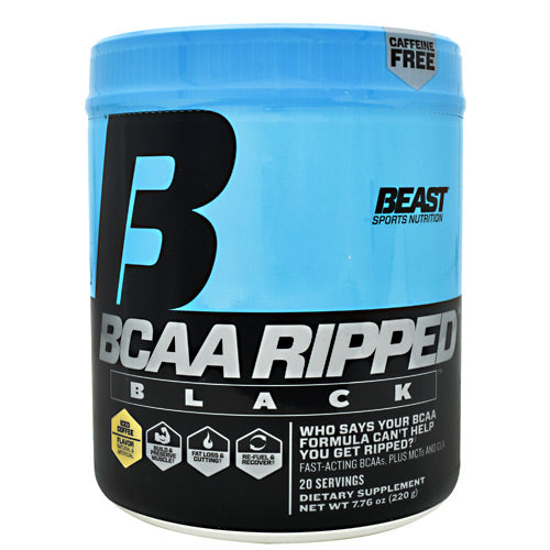 Beast Sports Nutrition Black BCAA Ripped - Iced Coffee - 20 Servings - 631312701011