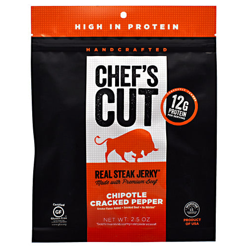 Chefs Cut Real Jerky Real Steak Jerky - Chipotle Cracked Pepper - 2.5 oz - 858959005016