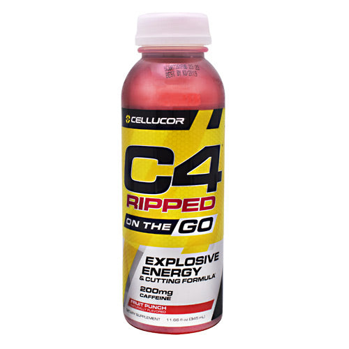 Cellucor Ripped C4 On the Go - Fruit Punch - 12 Bottles - 842595102680