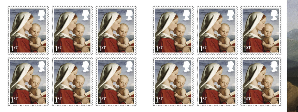 Christmas 2017 Madonna and Child 12x1st Class Retail Stamp Book (3774449)