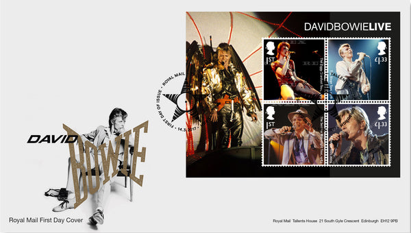 (j) Musical Giants II: David Bowie Minisheet First Day Cover (3773205)