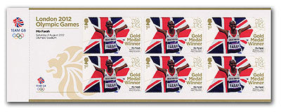 Gold Medal Mo Farah - Men's 10,000m Minisheet                       3761851