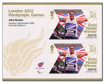 PGM Athletics Men's Discus F42 Aled Davies Minisheet                3762823