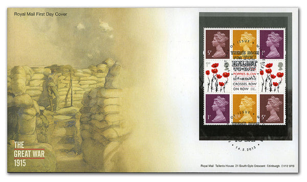 First World War 1915 Prestige Pane First Day Cover Winchester       3769178