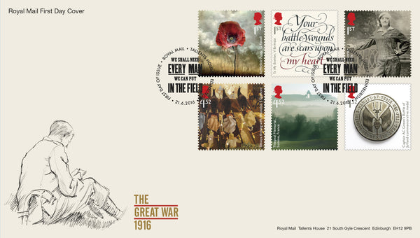The First World War 1916  First Day Cover  (3771733)