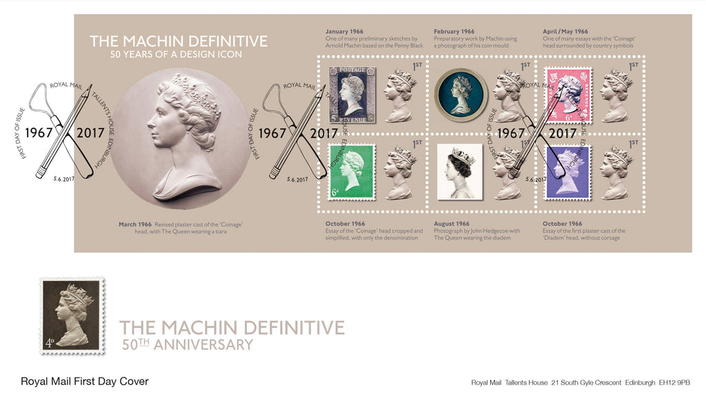 Machin Definitive Anniversary 50 Years of a Design Icon First Day Cover (3773574)